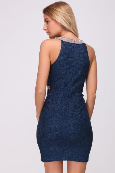 Cocktail jurk blauw