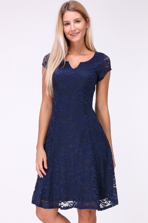 Wonderbaarlijk A-Lijn kanten jurk   Donna Li XZ-44