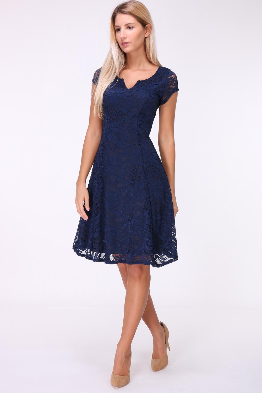 f844649c2bb7dd A-Lijn kanten jurk